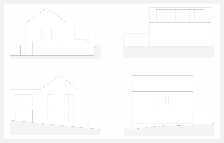 Umbau und Erweiterung eines Wohnhauses mit Büro